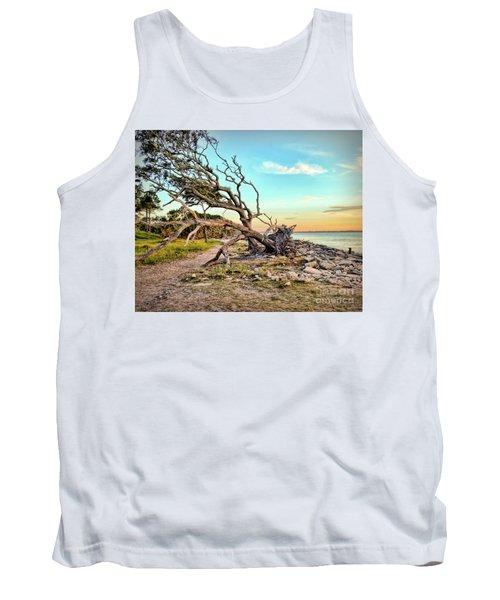 Driftwood Beach Morning 2 Tank Top