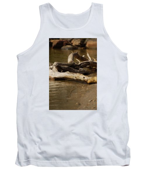 Tank Top featuring the photograph Driftwood by Ramona Whiteaker