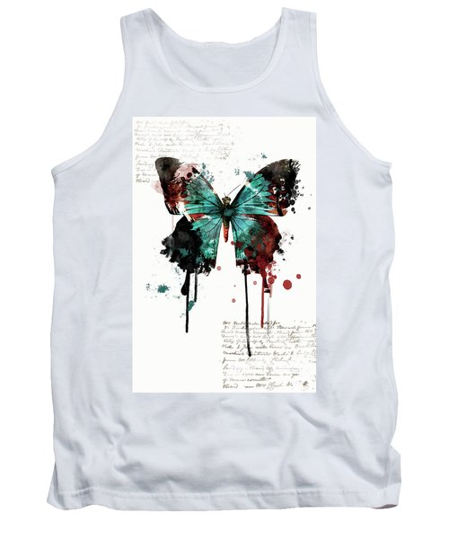 Dripping Butterfly Tank Top