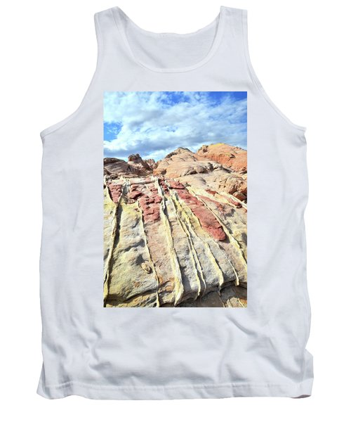 Dripping Color In Valley Of Fire Tank Top by Ray Mathis