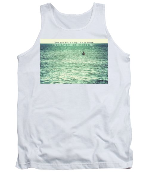 Drop In The Ocean Surfer Vintage Tank Top by Terry DeLuco