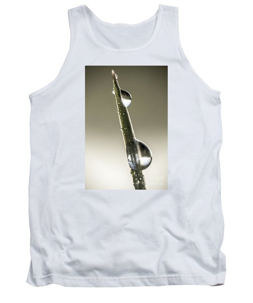 Tank Top featuring the photograph Drops On Green Grass by Odon Czintos