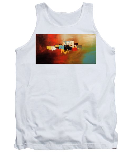 Tank Top featuring the painting Du Soleil by Carmen Guedez