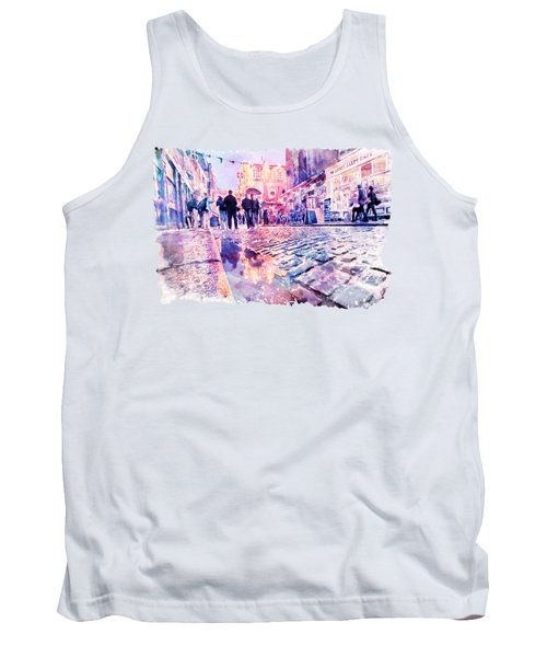 Dublin Watercolor Streetscape Tank Top