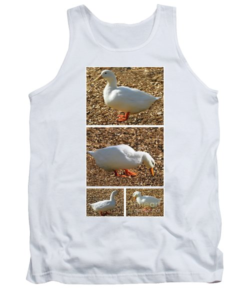 Duck Collage Mixed Media A51517 Tank Top