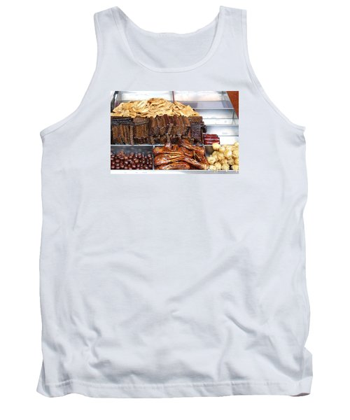 Duck Heads In Soy Sauce And Rice And Blood Cakes Tank Top by Yali Shi