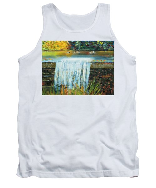 Ducks And Waterfall Tank Top by Michael Daniels