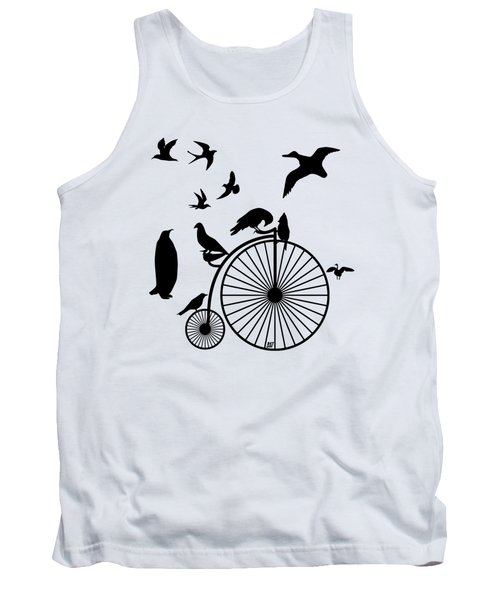 Dude The Birds Are Flocking Transparent Background Tank Top