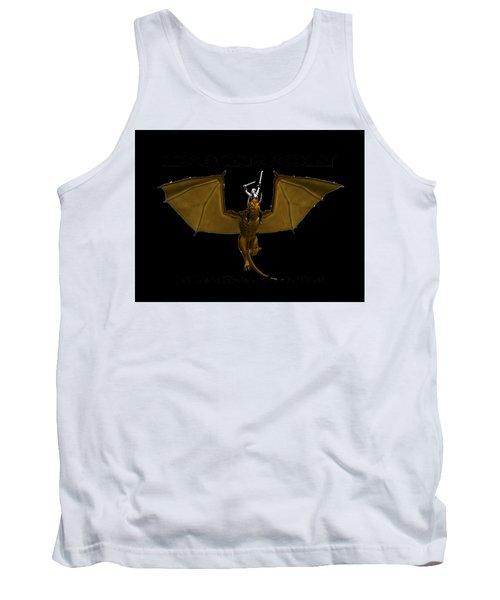 Dunjon T-shirt Print 2 White Tank Top