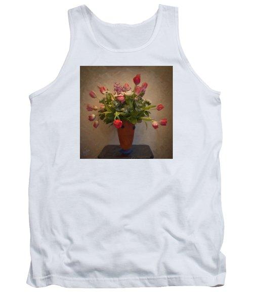 Dutch Flowers Blooming Tank Top