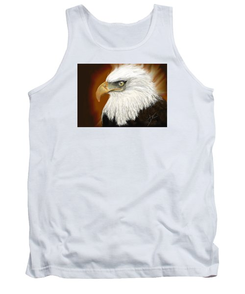 Tank Top featuring the digital art Eagle American by Darren Cannell