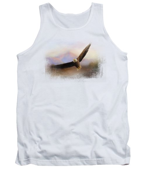 Eagle At The Mountain Tank Top by Jai Johnson