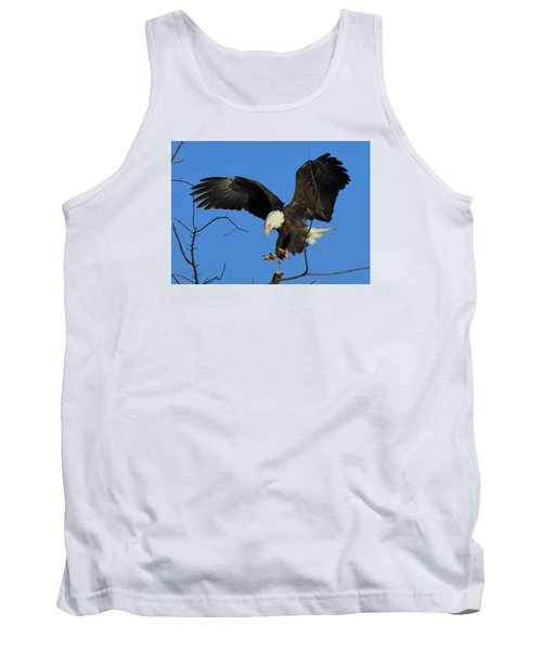 Tank Top featuring the photograph Eagle Landing by Coby Cooper