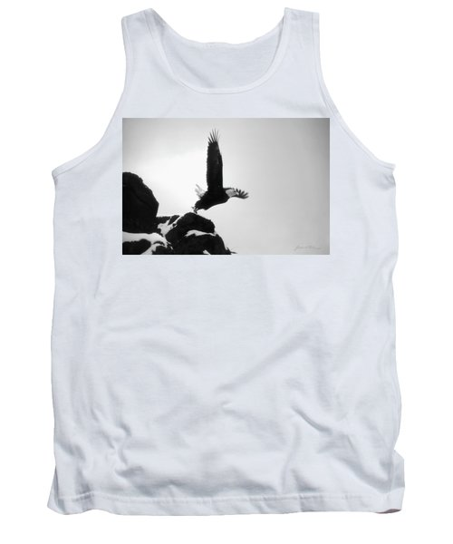 Tank Top featuring the photograph Eagle Takeoff At Adak, Alaska by John A Rodriguez