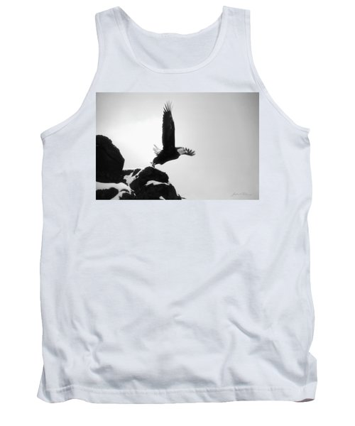 Eagle Takeoff At Adak, Alaska Tank Top