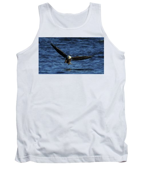Tank Top featuring the photograph Eagle With Talons Up by Coby Cooper