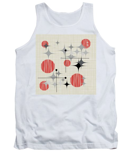 Eames Era Starbursts And Globe 2a Tank Top