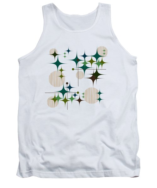 Eames-era Starbursts And Globes 1 Tank Top