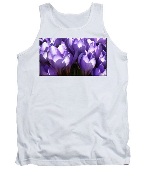 Early Crocus Tank Top by Mikki Cucuzzo