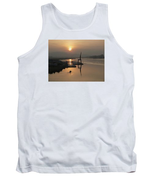 Tank Top featuring the photograph Early Hour On The River by Lucinda Walter