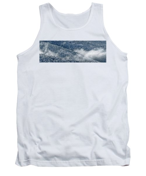 Tank Top featuring the photograph Early Morning After A Snowfall by Sebastien Coursol