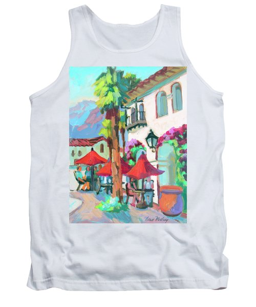 Tank Top featuring the painting Early Morning Coffee In Old Town La Quinta 2 by Diane McClary