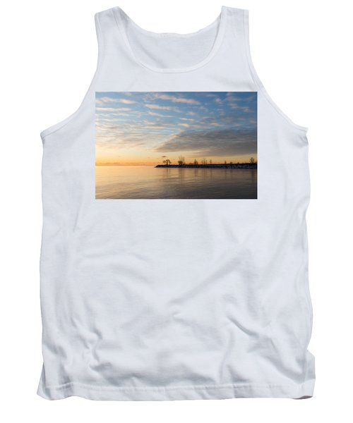 Early Morning Zen - Meditating On The Waterfront At Sunrise Tank Top