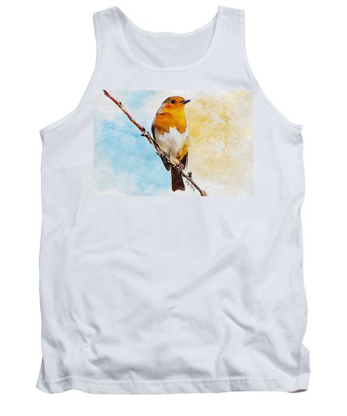 Tank Top featuring the painting Early Spring by Greg Collins