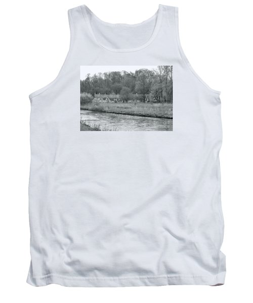 Early Spring In England Black And White Tank Top