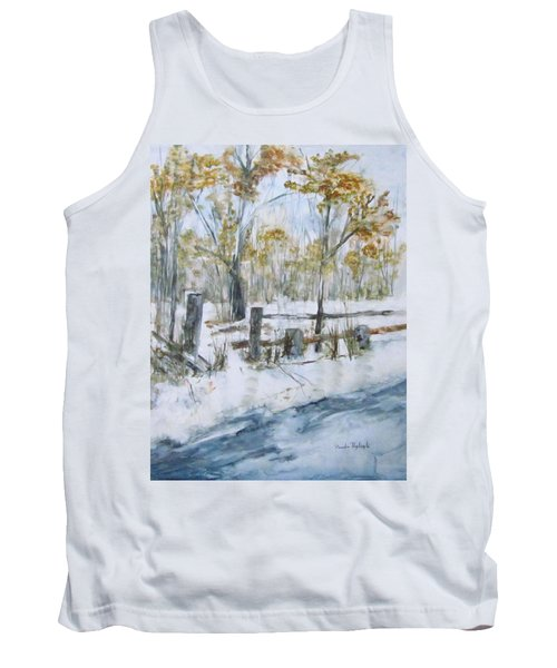 Early Spring Snow Tank Top