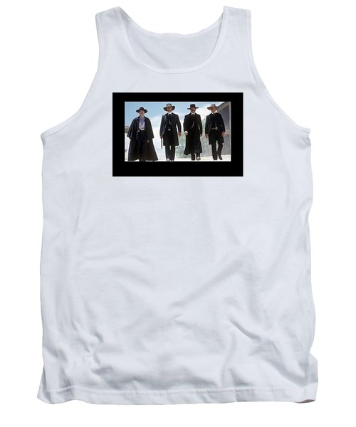 Earp Brothers And Doc Holliday Approaching O.k. Corral Tombstone Movie Mescal Az 1993-2015 Tank Top
