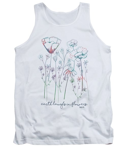Tank Top featuring the digital art Earth Laughs In Flowers by Heather Applegate