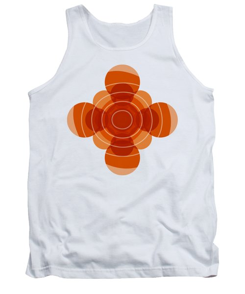 Tank Top featuring the painting Earthy Red Scandinavian Floral Design by Frank Tschakert