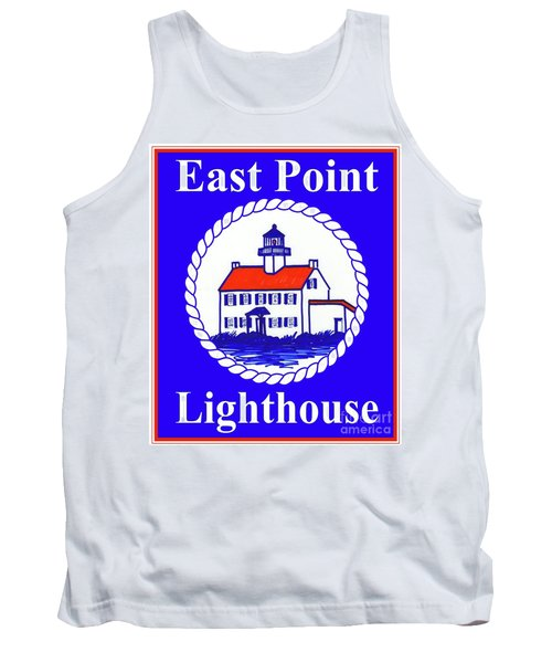 East Point Lighthouse Road Sign Tank Top by Nancy Patterson