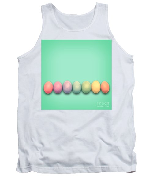 Easter Eggs, Green Tank Top