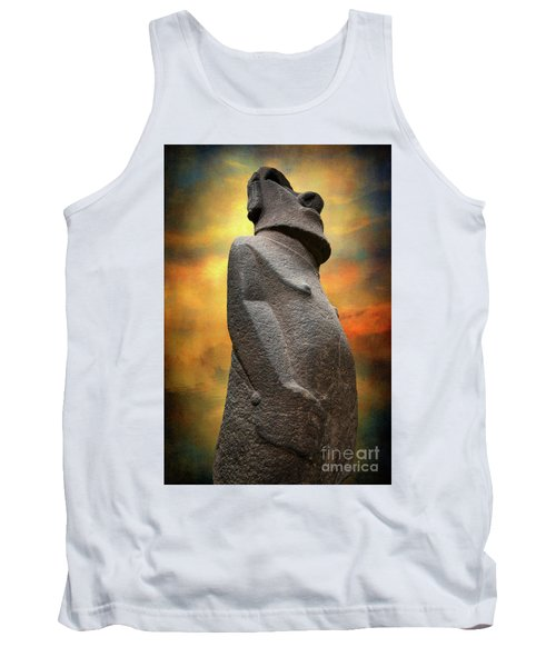 Tank Top featuring the photograph Easter Island Moai by Adrian Evans
