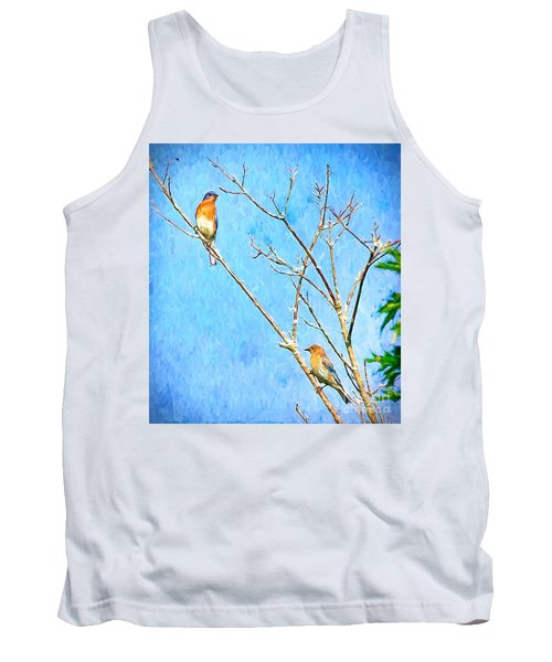 Eastern Bluebird Couple Tank Top