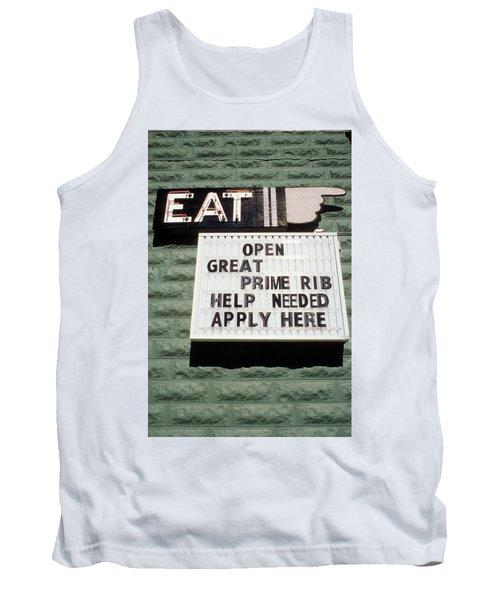 Eat Sign Tank Top
