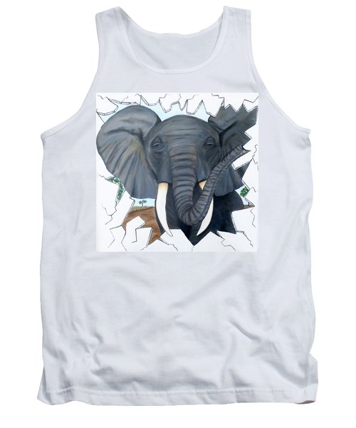 Eavesdropping Elephant Tank Top