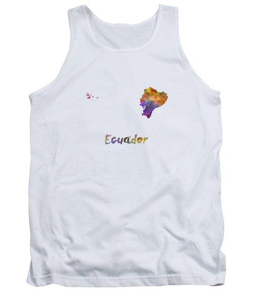 Ecuador In Watercolor Tank Top