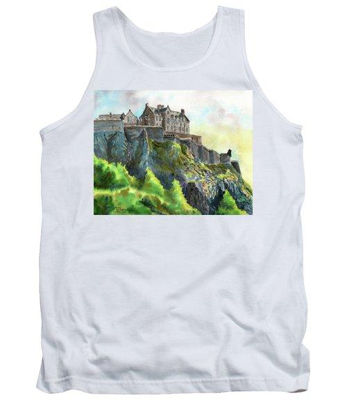 Edinburgh Castle From Princes Street Tank Top