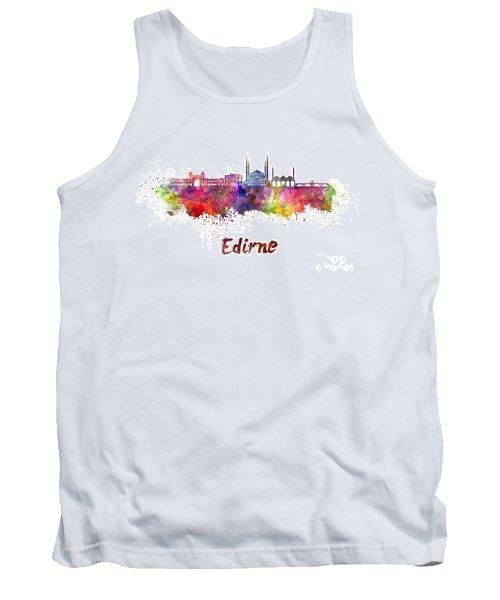 Edirne Skyline In Watercolor Tank Top by Pablo Romero