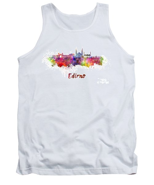 Edirne Skyline In Watercolor Tank Top