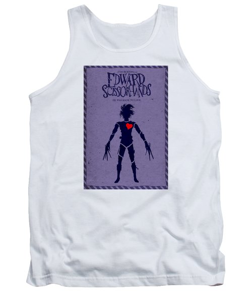 Edward Scissorhands Alternative Poster Tank Top by Christopher Ables