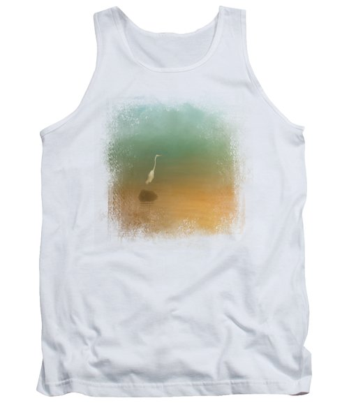 Egret At Sea Tank Top by Jai Johnson