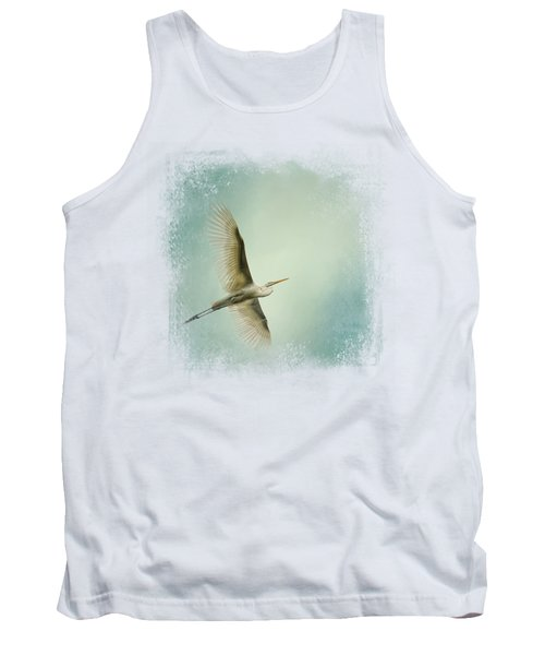 Egret Overhead Tank Top by Jai Johnson