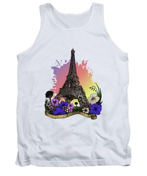 Eiffel Tower Tank Top by Adam Santana
