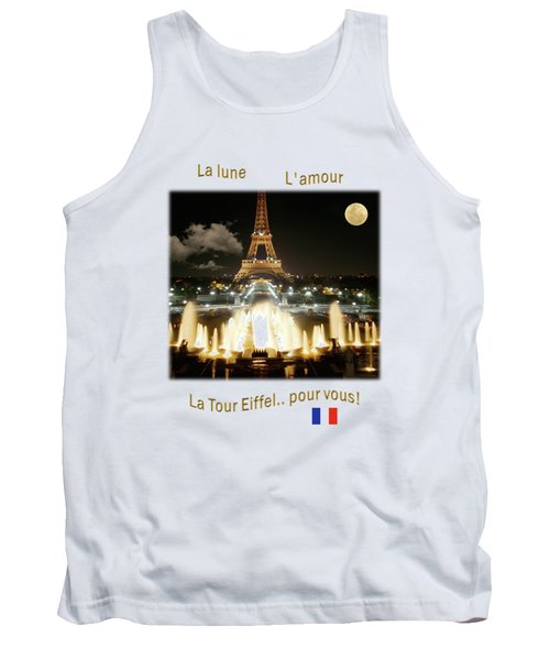 Eiffel Tower At Night Tank Top