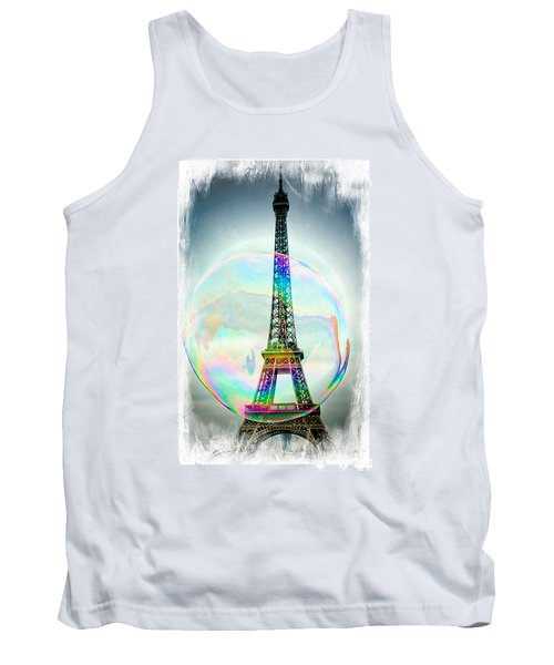 Eiffel Tower Bubble Tank Top by Lilliana Mendez