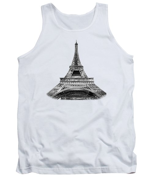 Eiffel Tower Design Tank Top by Irina Sztukowski